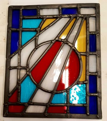 Small stained glass panel